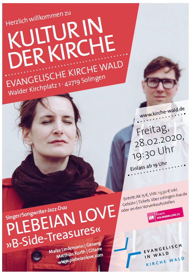 KULTUR IN DER KIRCHE  PLEBEIAN LOVE »B-Side-Treasures«