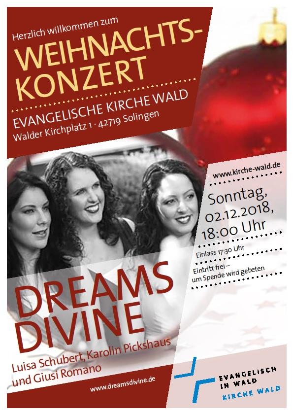 Dreams Divine Weihnachtskonzert 2018