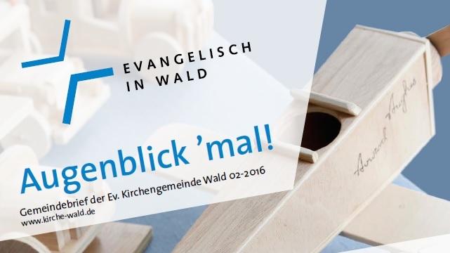 Gemeindebrief 2-2016